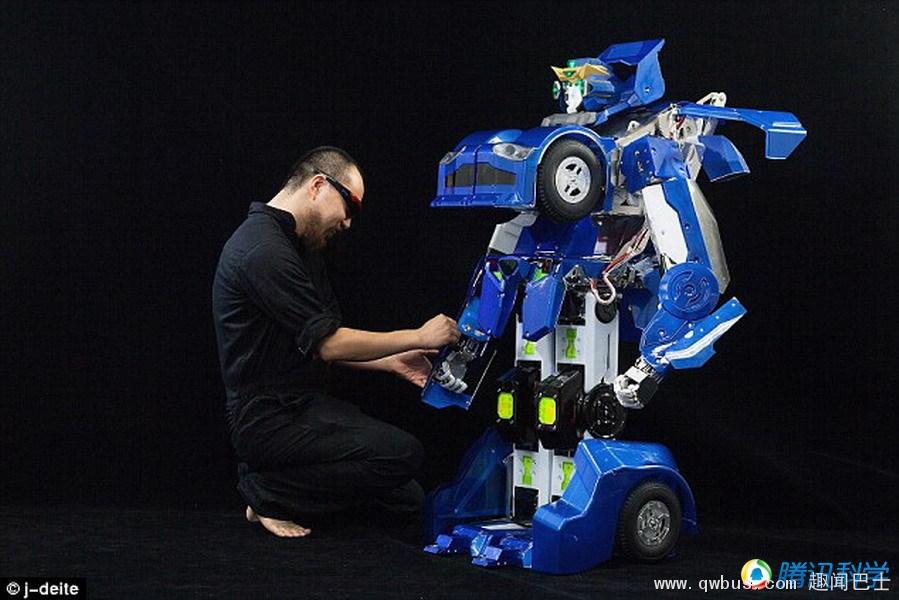 日本真实版变形金刚 秒变汽车时速将达60公里
