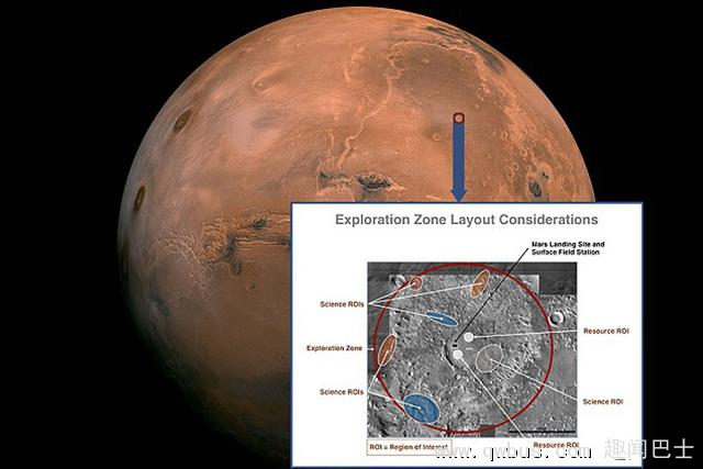 NASA将在10月首次探讨载人飞行器火星着陆点