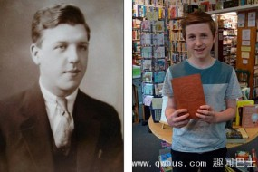 神秘巧合 男孩与百年旧书原主人同名且样貌神似