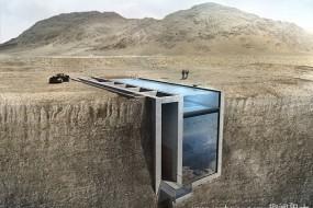 建筑师设计奇特别墅隐藏于海岸悬崖上