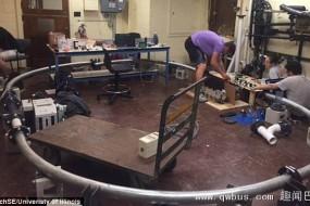 大学生建成超级高铁模型:时速260公里