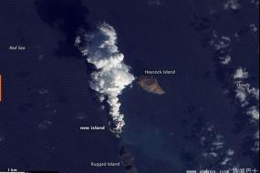 图片显示红海火山猛烈喷发 诞生两座新岛