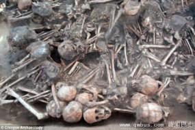 史前遗址堆满骸骨 死因神秘