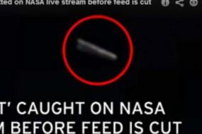 神秘UFO高速飞过国际空间站