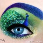 化妆师把眼睑当画布绘制精美绝伦眼影