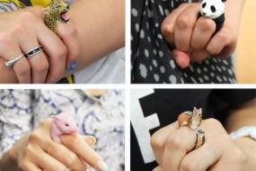 艺人纯手工打造的动物戒指让人爱不释手