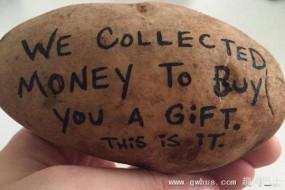 老美流行土豆传情 小伙造商机致富