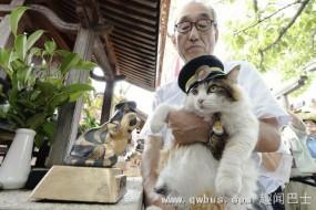 日本铁路第二任猫咪站长上任 欲继承前任遗志