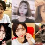 韩国妹子流行爱心刘海 太美不忍直视