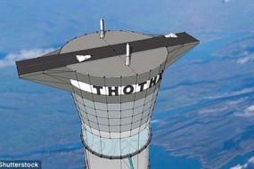 未来太空电梯高度为迪拜塔20倍 可停靠火箭