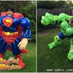 用气球打造超级英雄