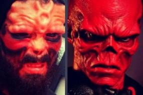 削掉鼻子染红脸 男子改造自己成红骷髅