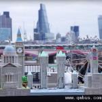 艺术家用废报纸做伦敦微缩模型