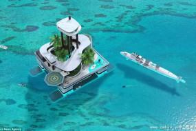 游艇算什么 漂浮岛屿比它牛多了