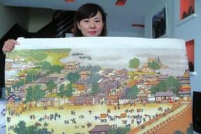女子绣6米长清明上河图 估价60万