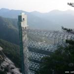 湖北景区建145米高全透明垂直电梯