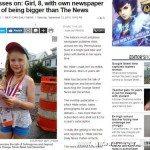 8岁女孩办报纸  采访写稿拍照送报一人全搞定