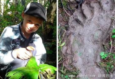 少年在西伯利亚发现神秘巨大脚印