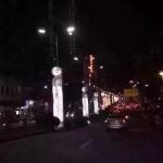 东莞深夜道路中站长发白衣女吓坏车主 细看是广告牌