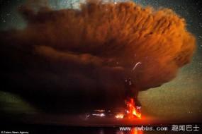 智利火山喷恐怖蘑菇云 似原子弹爆炸