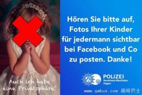 德警方:上传孩子照片到脸书可能严重影响孩子未来