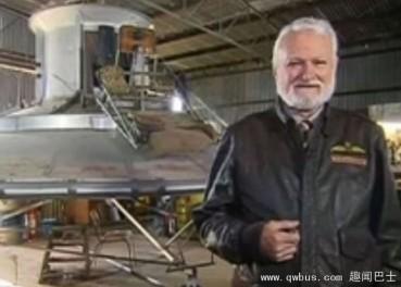 澳洲老工程师造UFO将试飞