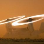 比加特效还炫:直升机旋翼发耀眼光环