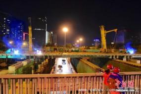 北京三元桥大修 新施工法换梁把工期从一月减为一天