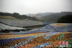 400万个塑料瓶组成梵高星空草原