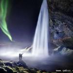 冰岛瀑布美景让你如入童话世界