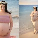 女子怀五胞胎拍写真 即将临产欲全程拍照记录