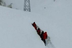 阿勒泰连续降雪14天 马没雪中都变潜水艇