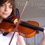 视频记录菜鸟2年自学变小提琴大神