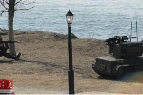"""俄罗斯""""平台""""-M战斗机器人叙利亚参战 操作员后方遥控"""