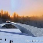荷兰世界最长冰桥诞生 灵感来自达芬奇桥