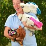 国外养宠物鸡成风 配鸡鸡专用纸尿裤