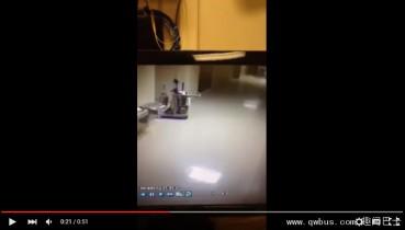 视频拍灵异清洁车 无人推动自动行走