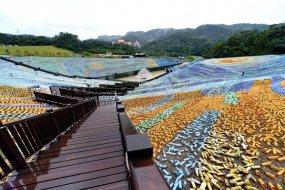 台湾基隆新建4万只废塑料瓶绿地 呼吁保护环境