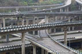 重庆最复杂立交桥 5层15条匝道