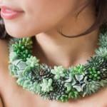 设计师用多肉植物制成活的珠宝