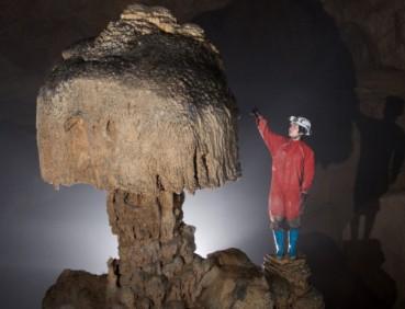 广西东兰发现罕见420米深天坑 内有多种不知名生物