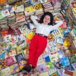 女子20年收集8万种餐巾纸 价值30万英镑