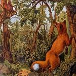 """考眼力:百年画作""""困惑的狐狸""""隐藏图形"""