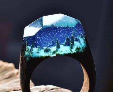创意戒指将风景浓缩在指间