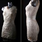 蘑菇做裙子另类时尚 可修补可降解