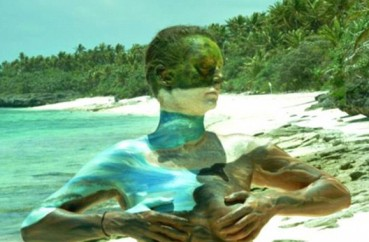人体伪装彩绘让人隐身于大自然
