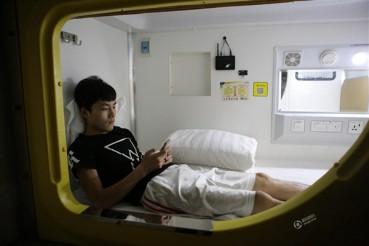 探访北京胶囊旅馆 麻雀虽小五脏俱全