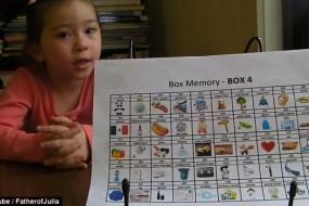 澳家长花巨资培养5岁女童超强记忆力