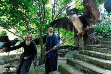 桂林八旬渔民兄弟模特 借大胡子成就视觉大片