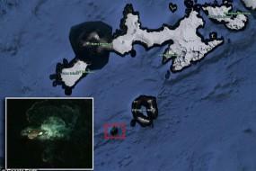 南极发现神秘物体疑似海怪 谷歌地球显示超30米长